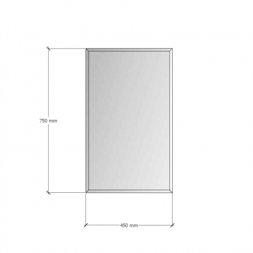 Зображення Дзеркало з фацетом 10 мм, 750 х 450 мм. 1170 - изображение 8