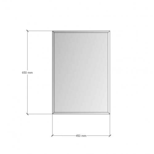 Зображення Дзеркало з фацетом 10 мм, 650 х 450 мм. 1171 - изображение 8