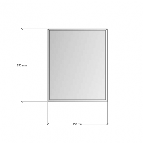 Изображение Зеркало с фацетом 10 мм, 550 х 450 мм. 1172 - изображение 8