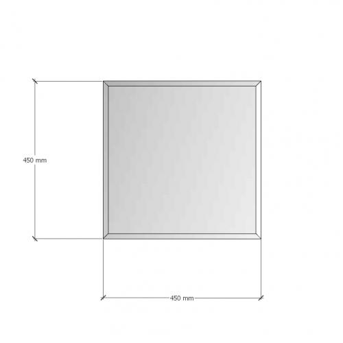 Зображення Дзеркало з фацетом 10 мм, 450 х 450 мм. 1173 - изображение 8