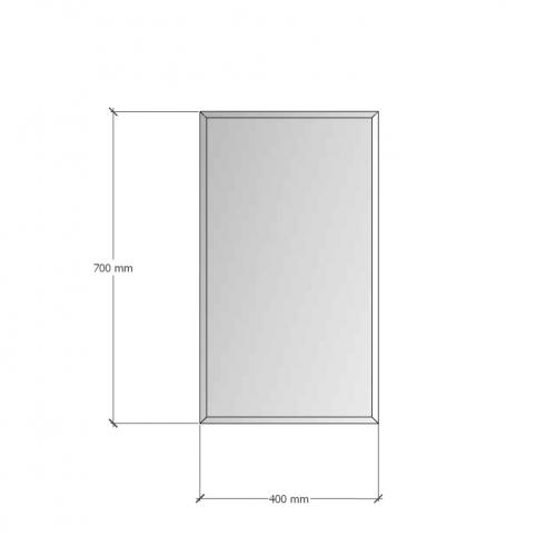 Изображение Зеркало с фацетом 10 мм, 700 х 400 мм. 1177 - изображение 8
