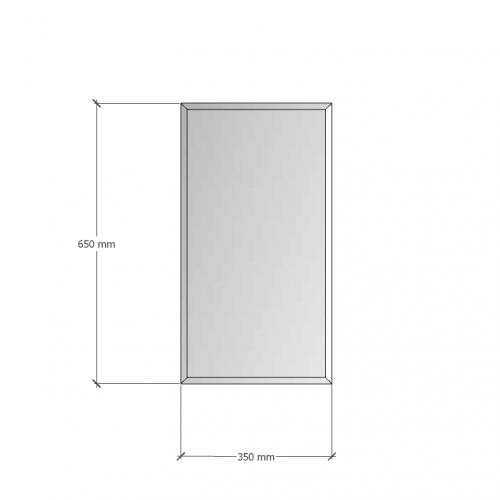Зображення Дзеркало з фацетом 10 мм, 650 х 350 мм. 1184 - изображение 8