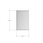 Изображение Зеркало с фацетом 10 мм, 550 х 350 мм. 1185 - изображение 3