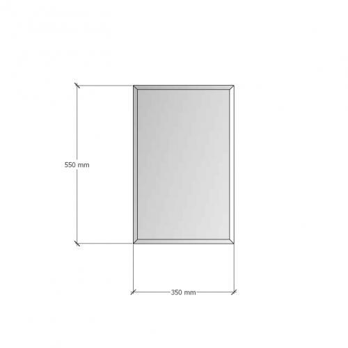 Изображение Зеркало с фацетом 10 мм, 550 х 350 мм. 1185 - изображение 8
