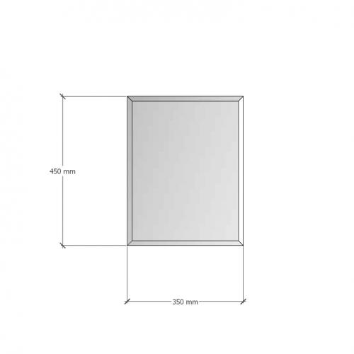 Изображение Зеркало с фацетом 10 мм, 450 х 350 мм. 1186 - изображение 8