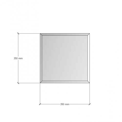 Зображення Дзеркало з фацетом 10 мм, 350 х 350 мм. 1187 - изображение 8