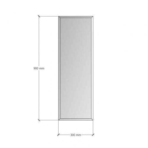 Изображение Зеркало с фацетом 10 мм, 900 х 300 мм. 1188 - изображение 8