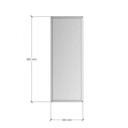 Изображение Зеркало с фацетом 10 мм, 800 х 300 мм. 1189 - изображение 8