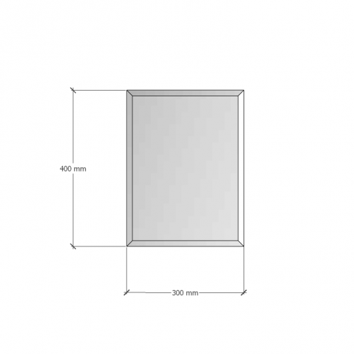 Изображение Зеркало с фацетом 10 мм, 400 х 300 мм. 1193 - изображение 8