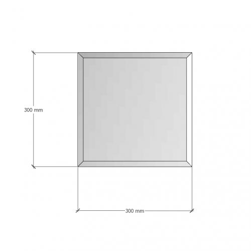 Изображение Зеркало с фацетом 10 мм, 300 х 300 мм. 1194 - изображение 8