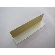 Изображение Уголок алюминиевый (золотой) с прирезкой 30х20х1.5 010.2.38