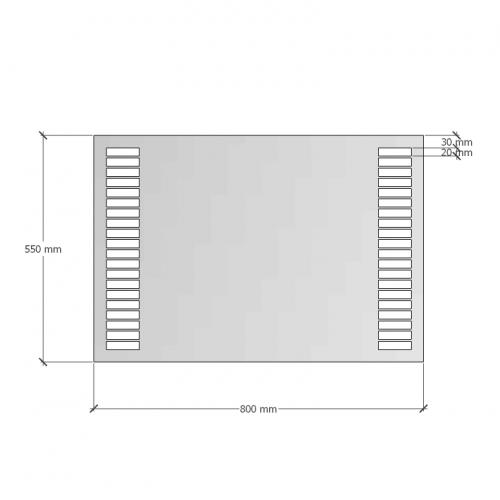 Зображення Дзеркало з LED підсвічуванням 550х800. 02.7.42 - изображение 7