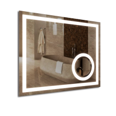 Зображення Дзеркало з LED підсвічуванням та сферичним збільшувальним дзеркалом 850 х 1050 мм. 02.7.46