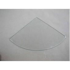 Изображение Полка радиусная из прозрачного стекла 8 мм. 400х400 мм 011.2.35.