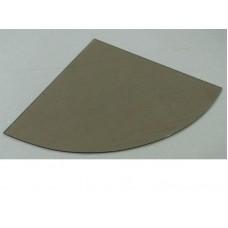 Изображение Полка радиусная из стекла Бронза 6 мм. 350х350 мм 011.2.42