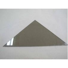 Изображение Полка треугольная из стекла Бронза толщиной 8 мм. 400х400 011.2.62