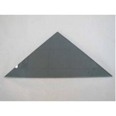 Изображение Полка треугольная из стекла Графит толщиной 8 мм. 400х400 011.2.63