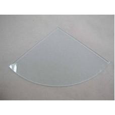 Изображение Полка радиусная из матового стекла толщиной 8 мм. 400х400мм 011.2.36