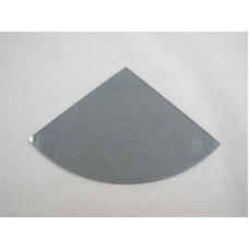 Изображение Полка радиусная из стекла графит толщиной 8 мм. 400х400мм 011.2.38
