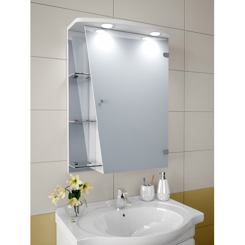 Изображение Шкаф зеркальный, 750х550х125мм 55-sk. - изображение 2