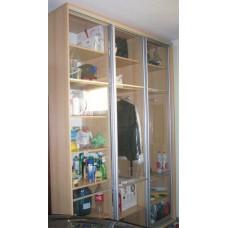 Изображение Шкаф хозяйственный с прозрачными дверями 04.02.05
