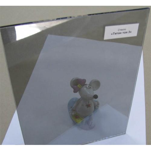 """Изображение Стекло тонированное с напылением """"Титан"""" тон 3 толщиной 4 мм, оттенок серый 01.02.25 - изображение 2"""