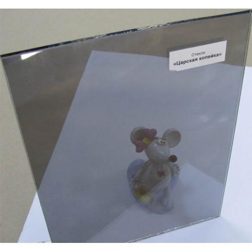 """Зображення Скло тоноване з напиленням """"Царська копійка"""" товщиною 4 мм, відтінок мідний 01.02.27 - изображение 2"""