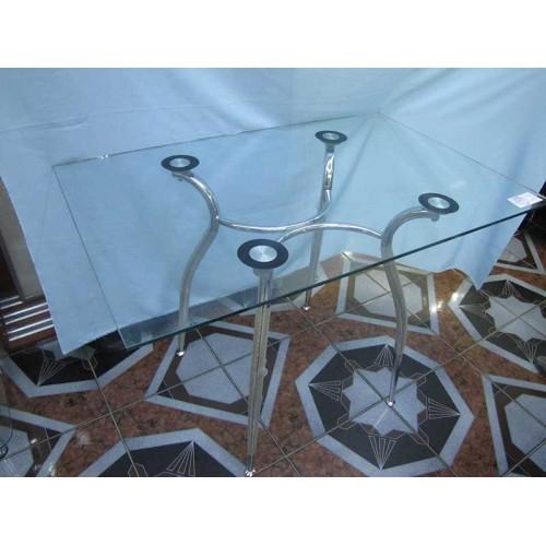 Изображение Стол обеденный CRISTAL хром Д-1100х700 мм 03.3.18 - изображение 2