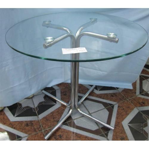 Изображение Стол обеденный KARINA хром Д-800х730 мм 03.3.13 - изображение 2