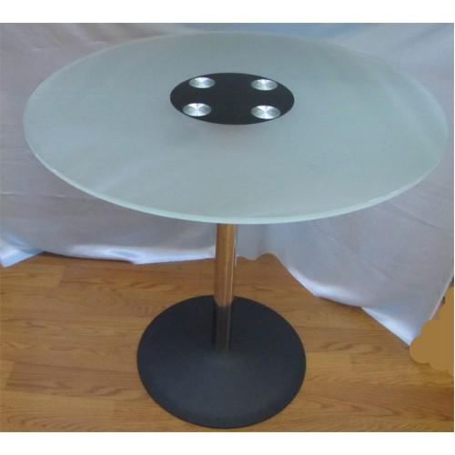 Изображение Стол обеденный LENA хром Д-800х760 мм 03.3.19 - изображение 2