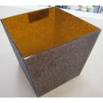 Изображение Вазон для цветов из узорчатого стекла 240х240х220 495.4 - изображение 1