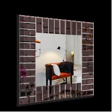 Изображение Зеркало с декоративными накладками (накладки - бронза) 880 х 880 мм 02.17.48