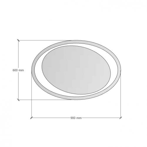 Изображение Зеркало с LED подсветкой 600 х 900 мм. 02.7.14 - изображение 5