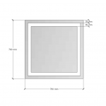 Изображение Зеркало с LED подсветкой 700 х 700 мм. 282 - изображение 3