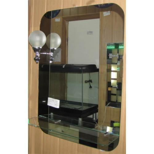 Зображення Дзеркало з полицею 800х500(800х600)мм 064 - изображение 2