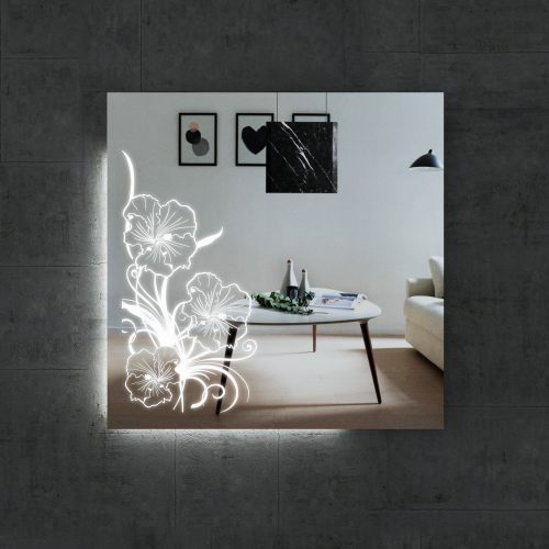 Изображение Зеркало  с LED подсветкой 800 х 800 мм. 02.7.19 - изображение 4