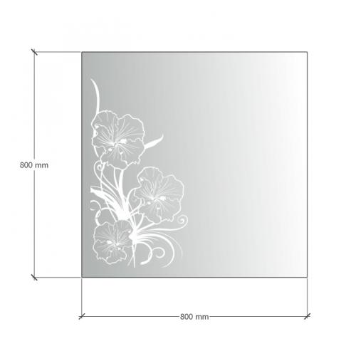 Изображение Зеркало  с LED подсветкой 800 х 800 мм. 02.7.19 - изображение 5