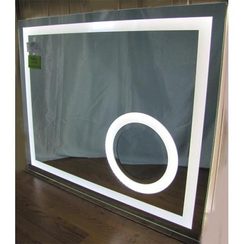 Изображение Зеркало с LED подсветкой и сферическим увеличительным зеркалом 850 х 1050 мм. 02.7.46 - изображение 2