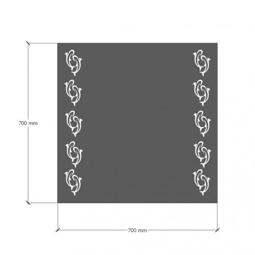 Зображення Дзеркало з LED підсвічуванням 700 х 700 мм. 02.7.99 - изображение 6