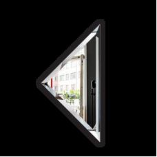 Изображение Плитка зеркальная 300 х 300 мм. с фацетом 15 мм треугольная 696